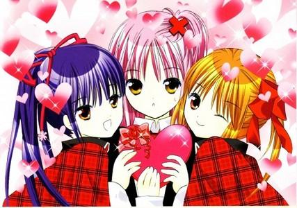 amu, nadeshiko and yaya.' i had so many of amu with her hair up it was hard to pick just one