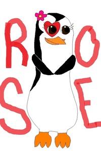 My OC is Rose the penguin! I finally drew her.