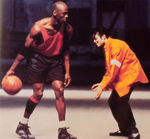 all i could find.. him and michael jordan playing 농구 :S