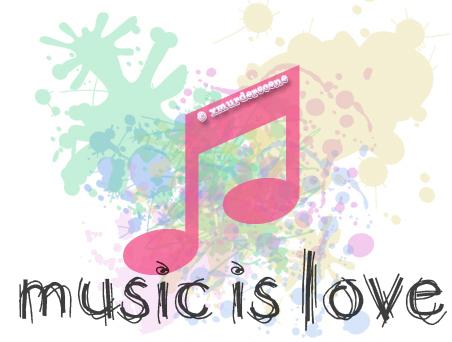 I listen to musik ♥