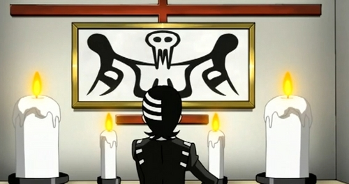 Death the Kid is judging the painting <3