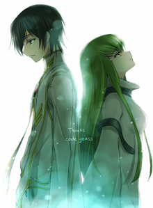 Lelouch and C2 from Code Geass