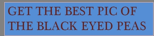 THE BLACK EYED PEAS PIC CONTEST