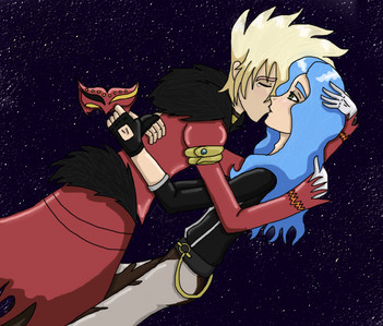 i would have to say Spectra Phantom(Keith Clay) and Gus Grav from Bakugan...they seem cute together <3