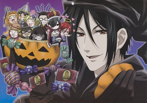Sebastian in Halloween costume...^^ cute!
