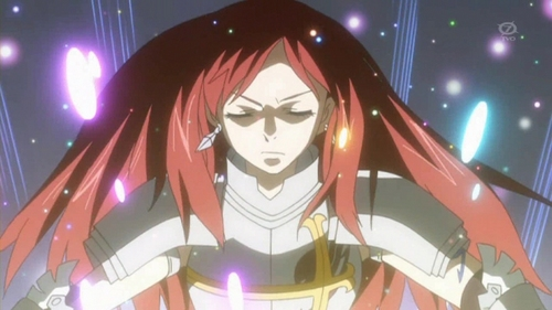 Erza Scarlet from fairytail.