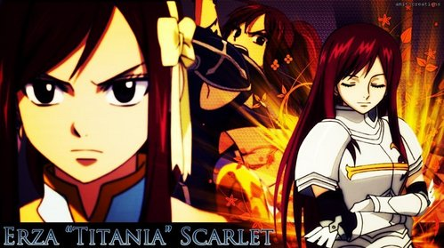 I want to meet titania(erza)from fairytail.i wish to learn her magic.i pag-ibig to become a warrior like her with magic.