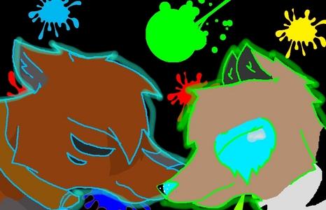 I drew this lông, lông thú a friend on ms paint and gimp...