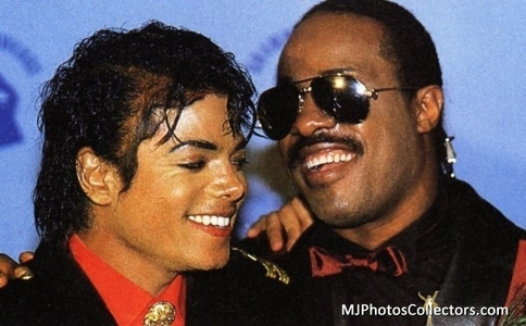 Do te have pictures of Michael with Stevie Wonder...?