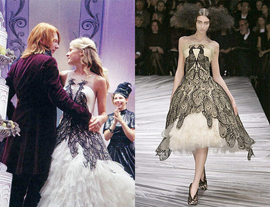 Fashion bloggers think Alexander McQueen should sue WB/Jany(costume Designer) cause Fleurs wedding گاؤن, gown looks too similar to this dress.