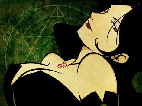 Lust from Full Metal Alchemist.