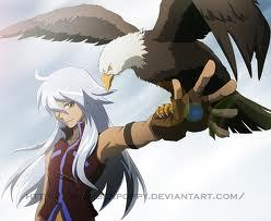I'll put a pic of my new fave, Tsubasa. He's From Beyblade Metal Fusion. His bey, has the spirit of an Eagle.