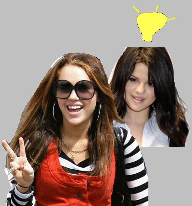 Well I say that Selena probably is because Miley was such a HUGE star, sterne And she want's to be huge like her. What REALLY pointed that out was the peace sign the blowing Kisses but The BIGGEST thing was the first picture that was DEFIANTLY copping. BUT Thats my opinion. ^.^