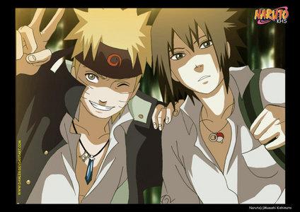 나루토 and 나루토 Shippuden!! There the same thing but 나루토 Shippuden is 4 years after Naruto, so when their all teens x3
