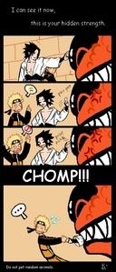 Remember kidz don't pet walang tiyak na layunin mga hayop but in Sasuke's case don't pet the Nine-Tailed Demon soro or u WILL be eaten XD
