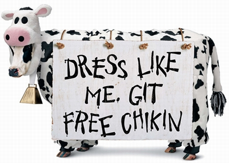 I did it, 'cause I was runnin' lo on free chikin!