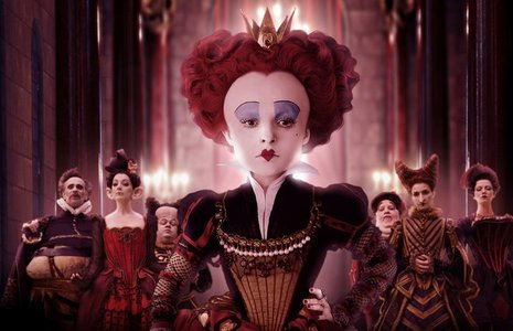 The Queen of Hearts from Alice in Wonderland. Not the animated one, though. THe one with Johnny Depp. :3