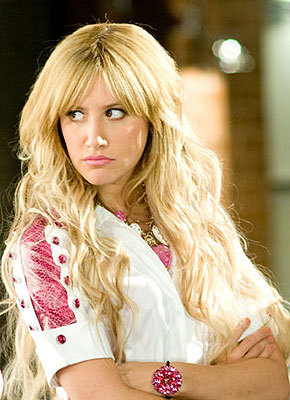 Sharpay Evans. (Yes, she's the one who tried to screw up Troy & Gabriella.)