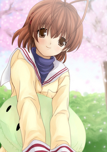 Nagisa Furukawa from Clannad. I'm shy. I'm a little anti-social. I cry a lot.. I'm caring and sweet.. I'm stubborn at times. I have silly/embarassing parents.. Apparently I'm cuuuute. o3o Just like Nagisa-chan~ X3