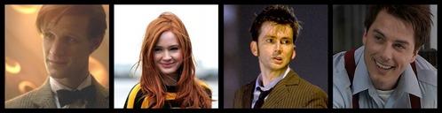 Matt Smith, Karen Gillan, David Tennant and John Barrowman, these are my idols C: