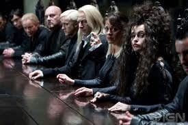 I pity the Malfoy family in both of the Deathly Hallows movies. te can tell they aren't exactly up to being Death Eaters any more.
