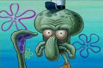 Ide pull out my squidward and win the fight.