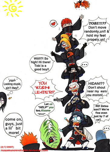 The Akatsuki:3 U gotta Liebe Hidan in this XD