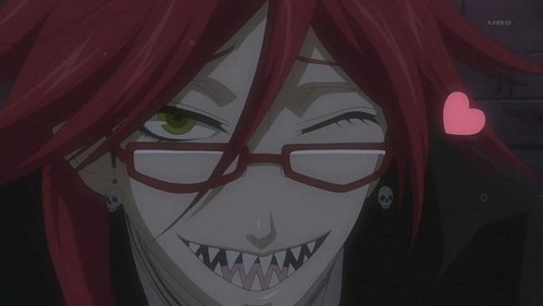 My favourite character is the beautiful green beast Rock Lee, but seeing as he's already been said, imma go for the equally beautiful Grell Sutcliff from Kuroshitsuji♥