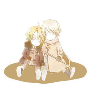 My paborito anime couple :D I pag-ibig Russia and America from Hetalia
