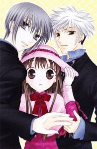 This is a cute picture of Yuki, Tohru and Haru <3