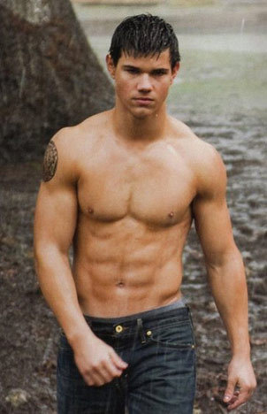 Taylor Lautner/Jacob Black because he seems like a fun person to hang out with to me.