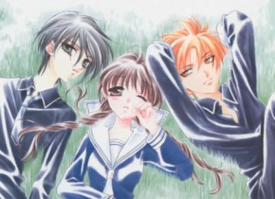this pic of Yuki,Kyo and Tohru ^_^