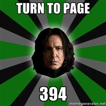 394! I wanted to say OVER 9,000 but I was beaten. Q~Q So Snape will do.