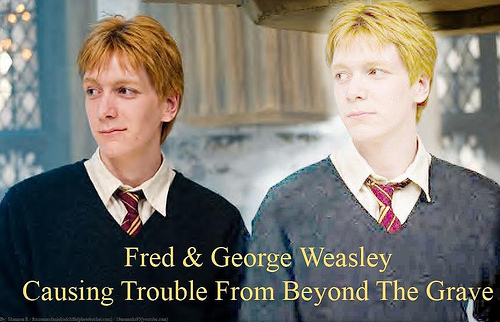 Fred - coz I ♥ him, I mean who doesn't? Sirius - coz he was one of my fave characters
