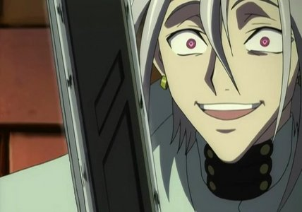 Mao from Code Geass and his 'Iam crazy & I have a chainsaw' face.
