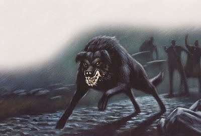 Hellhounds. Hate those bloody things >.<