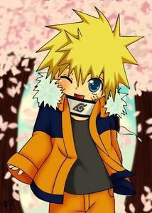 Naruto Uzumaki from Naruto,blue eyes.