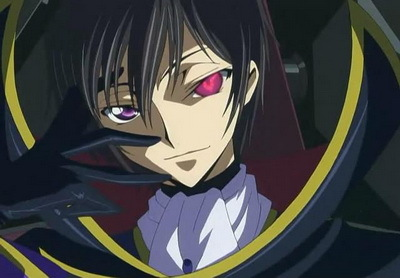 Lelouch from Code Geass all the way. (his other eye is orignily purple.)
