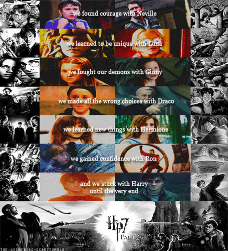 Harry Potter. I was a big fan of Twilight Saga before and I did'nt like Hp much, but after watching and lectura Harry Potter,I was madly,crazily in amor with it. I had never seen and read such a best cine and libros like Hp. Harry Potter is my childhood. Harry Potter changed my life.