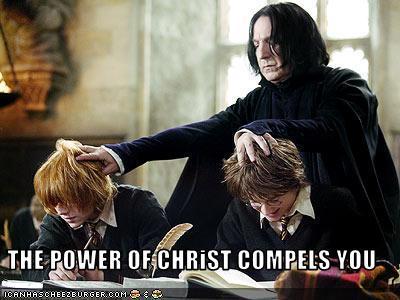 Nope. But in other news Snape kinda looks like a Catholic School teacher.