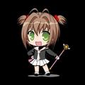sakura kinomoto from card captor sakura!! :D although too small,, but it is cute!!
