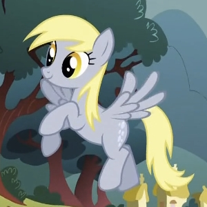 Watching My Little Pony: Friendship is Magic.