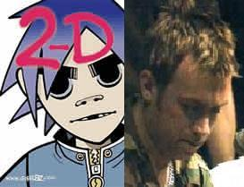 1. 2D または Damon Albarn 2. 2D I would rape on the spot lol (he's the cartoon character) and Damon Albarn I would bow down to him and then bombard him with about a million 質問 (he's the real person).