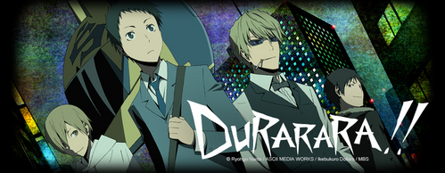 Uhm well... I don't know if you've already seen it, but DURARARA is a really good anime..