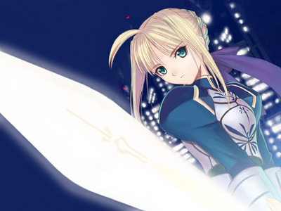 Saber from Fate/Stay Night(1 lebih time),cuz i luv her so much!!!