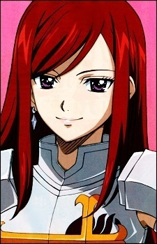 talking about red-haired-anime-girl that should be Erza Scarlet from Fairy Tail :3