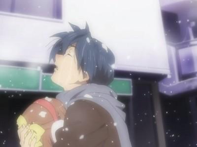 Clannad-Tomoya with Ushio