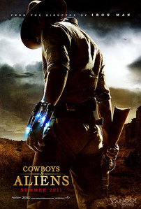 Yesterday i went to go see Cowboys and Aliens with my sister and best friend and i really liked it.