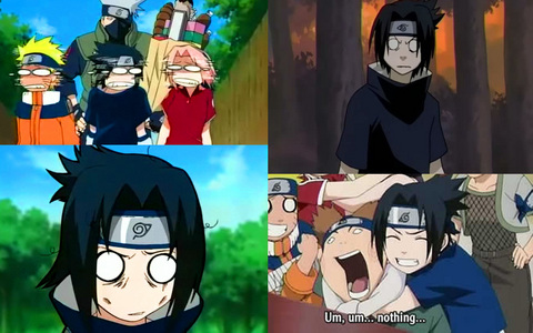 Sasuke is so out of character in all these pics! I tình yêu it when he's out of character XD soo funny