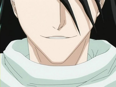 Byakuya smiling that is the first time i seen him smile -World EXPLODES-